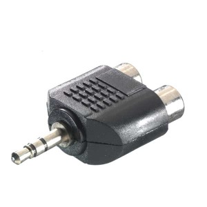 Stereotulp naar 3,5 mm jack adapter