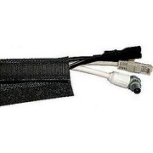 Cavus Kabelsok 80mm-20 mtr. met klittenband [zwart]