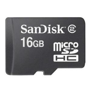 Sandisk 16GB MicroSDHC met adapter