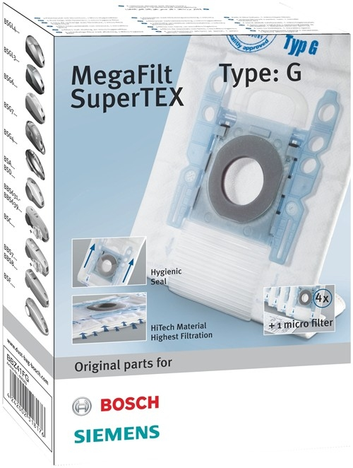 Bosch/Siemens Stofzuigerzakken Type G (4 stuks)