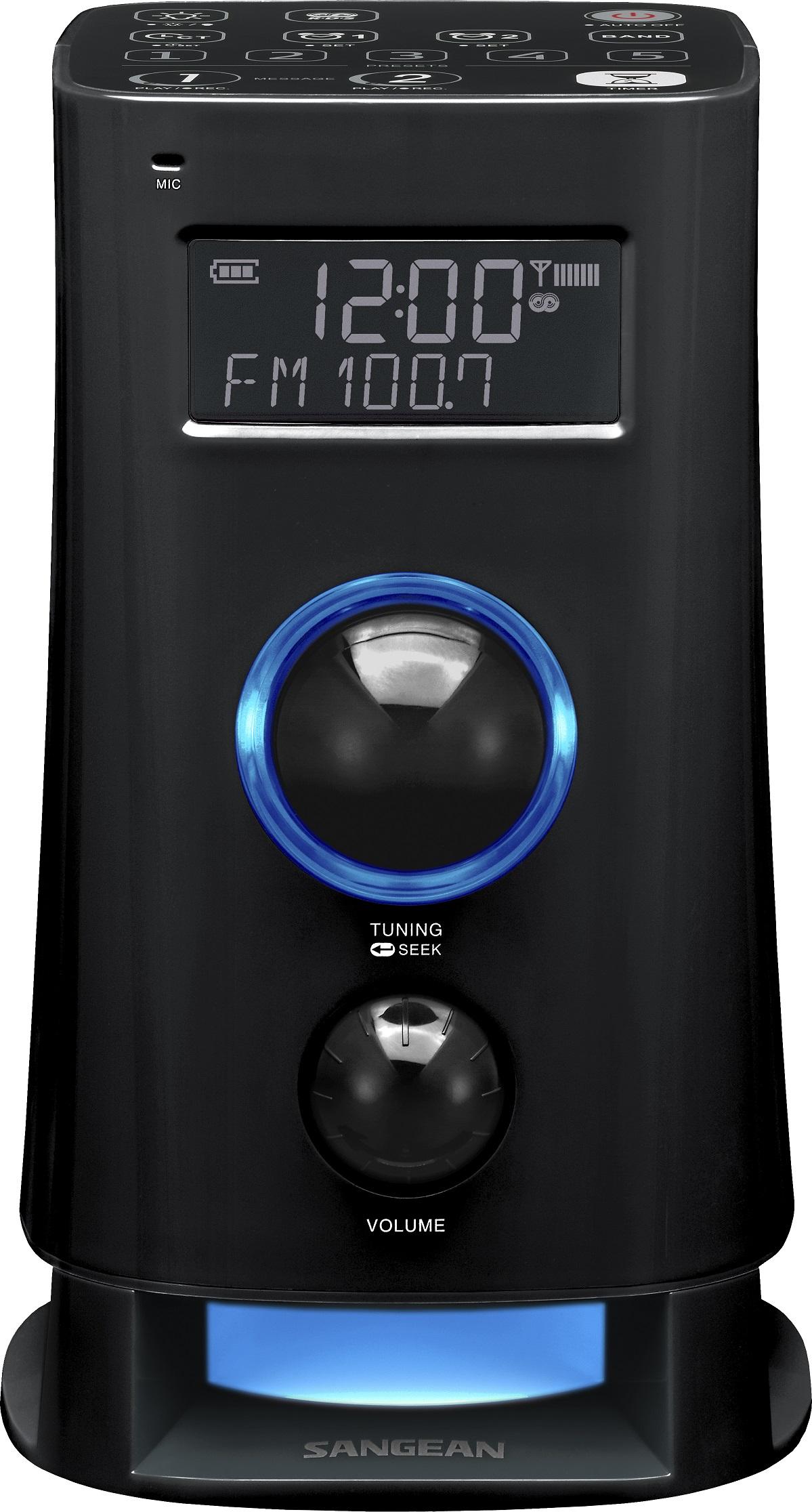 Sangean K200 - Wekkerradio - Mood - Zwart