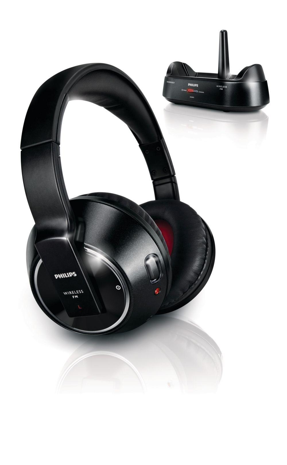 Image of Philips Koptelefoon SHC8575 Draadloos (zwart)