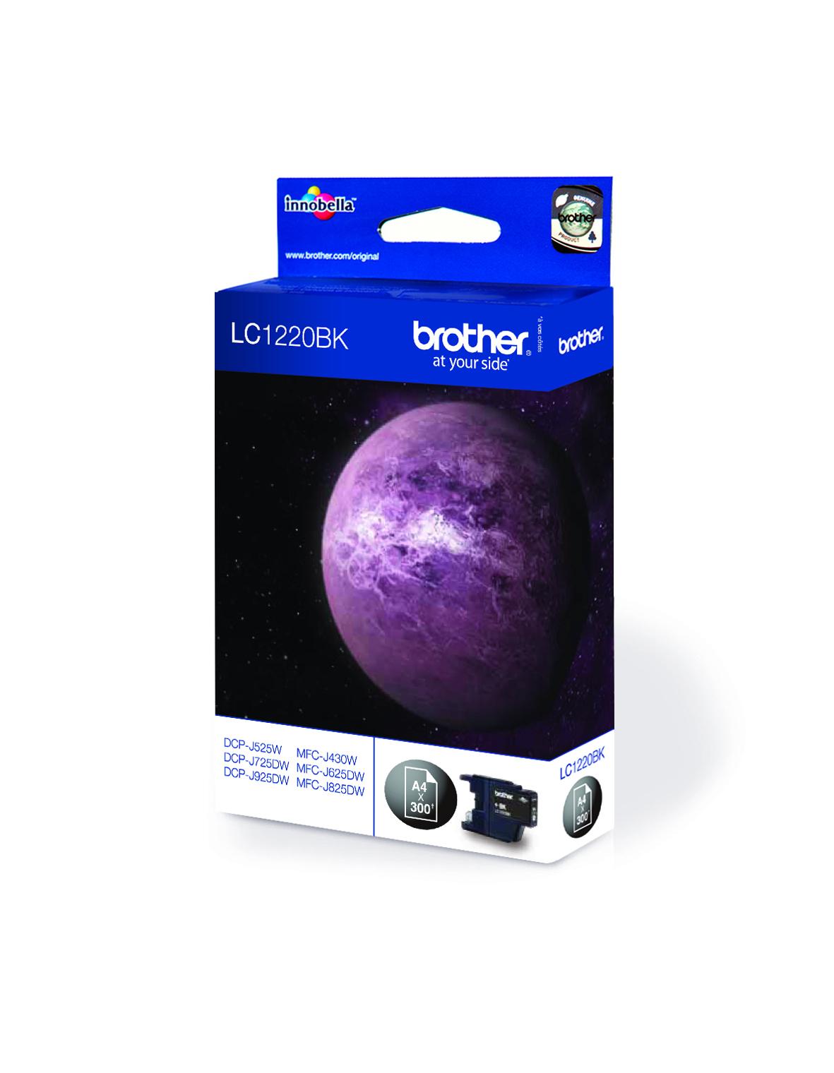 Image of Brother Ink Cartridge Lc-1220Bk Black