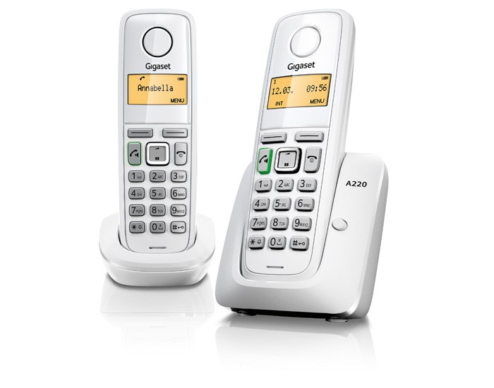 Gigaset A220A Duo Wit DECT Telefoon
