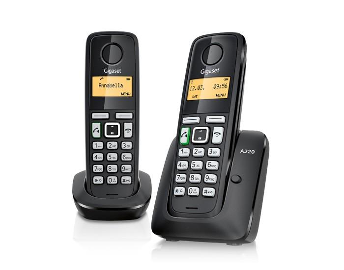 Gigaset A220A Duo Zwart DECT Telefoon