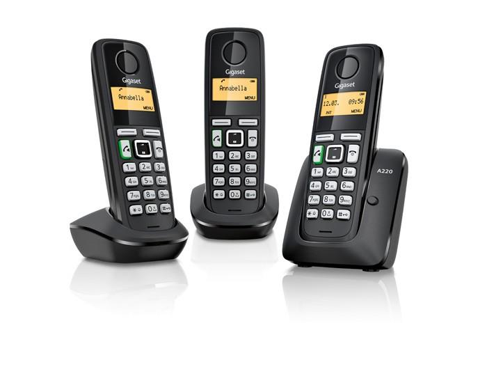 Gigaset A220A Trio Zwart DECT Telefoon