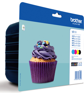 Image of Brother Ink Cartridge Lc-123Valbp Value Blister