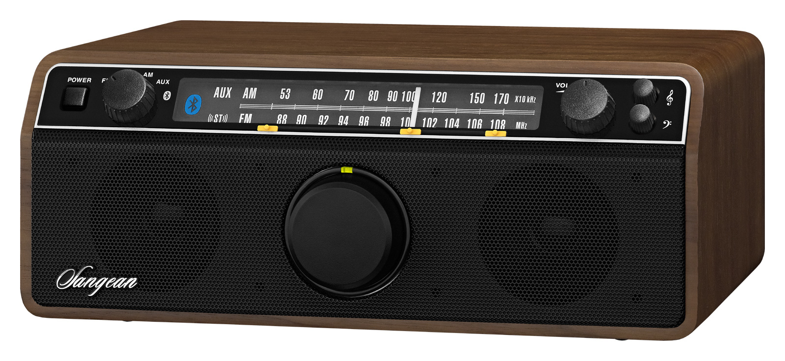 Sangean WR12 BT - Radio met bluetooth - Walnoot