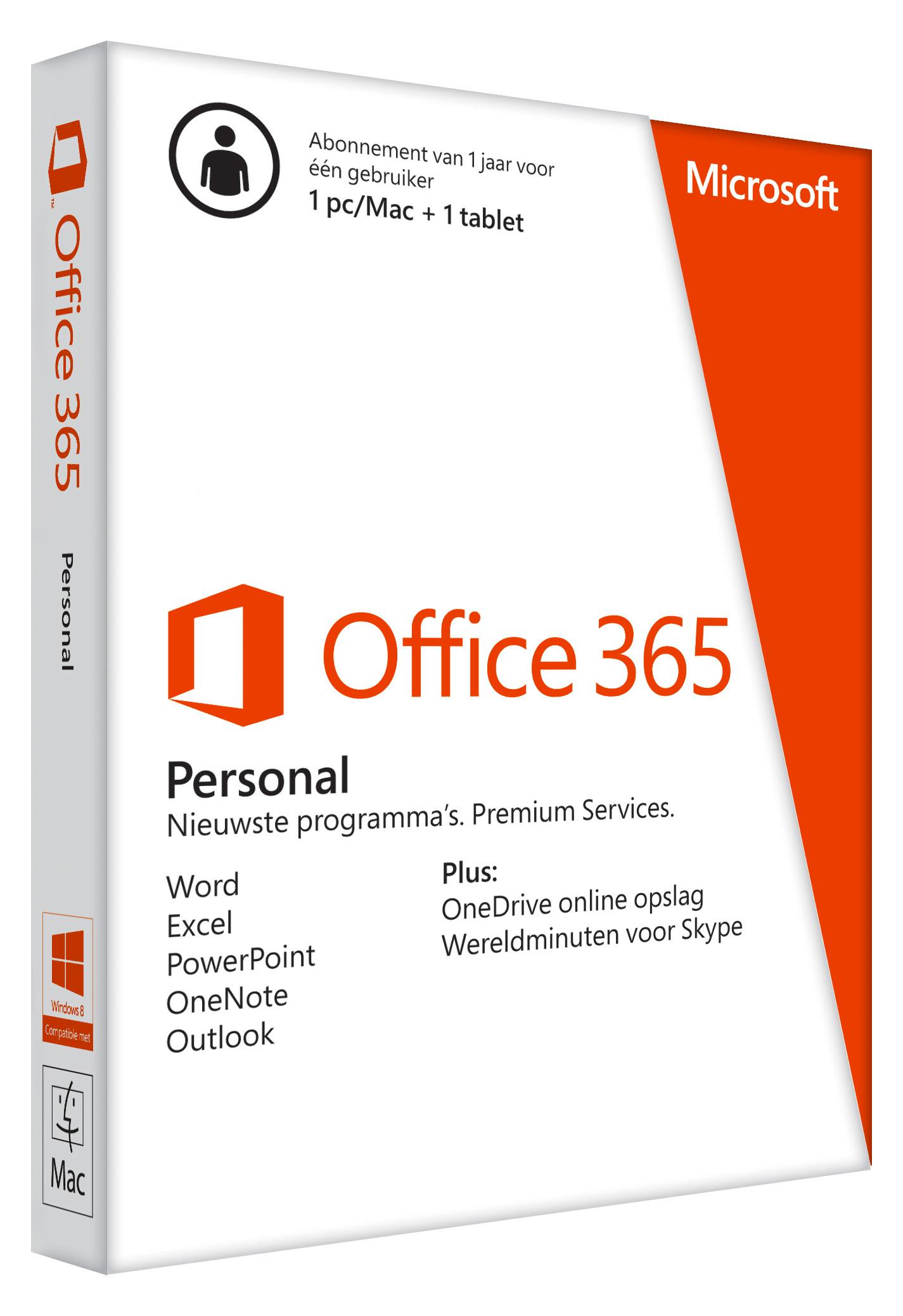 Microsoft 365 office personal 1 gebruiker
