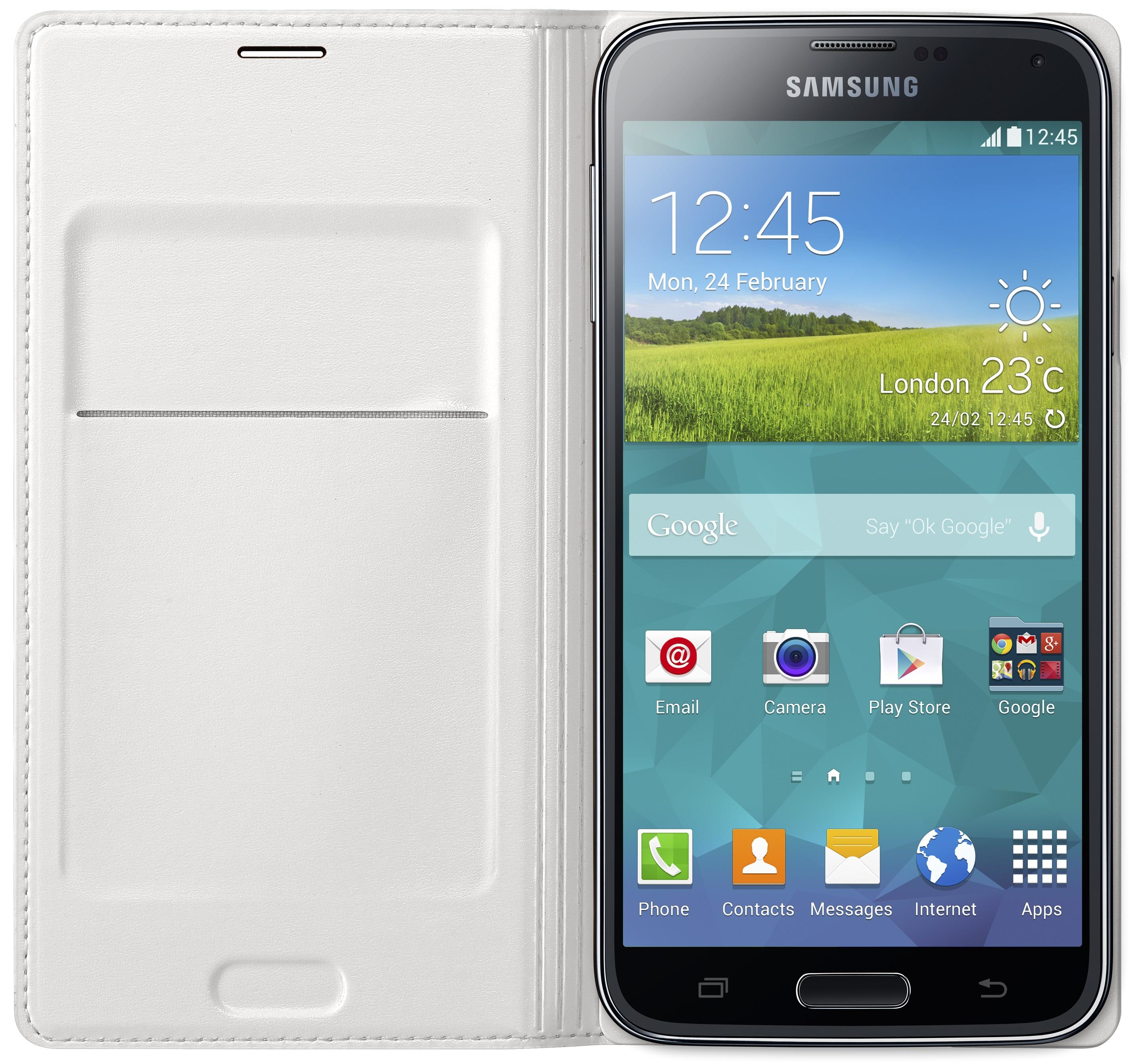 Galaxy S5 flip wallet white