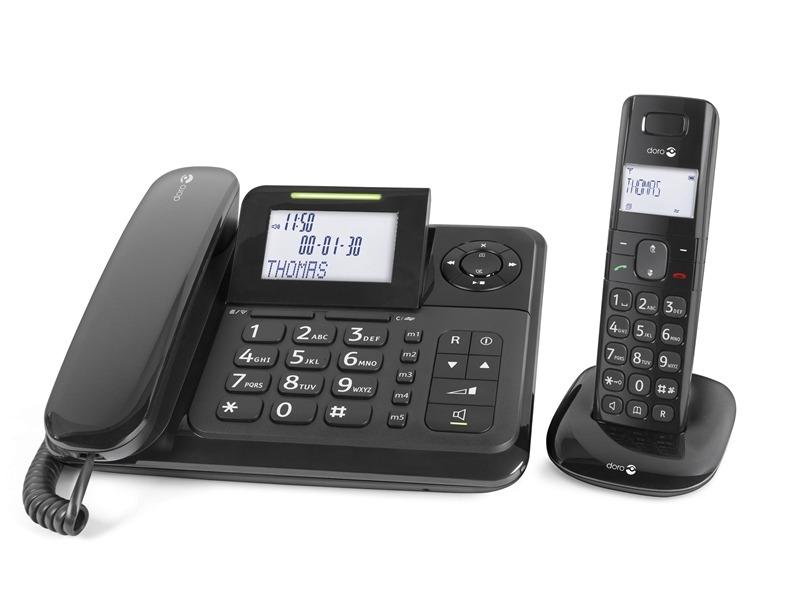 Telefoon (Dect) Doro Comfort 4005 zwartIT en Telecom 7322460060527
