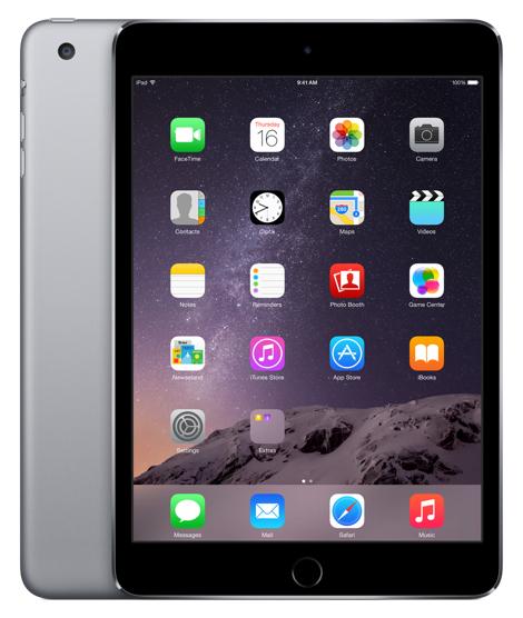 iPad Mini 3, 128 GB, WiFi + Cellular, Spacegrijs