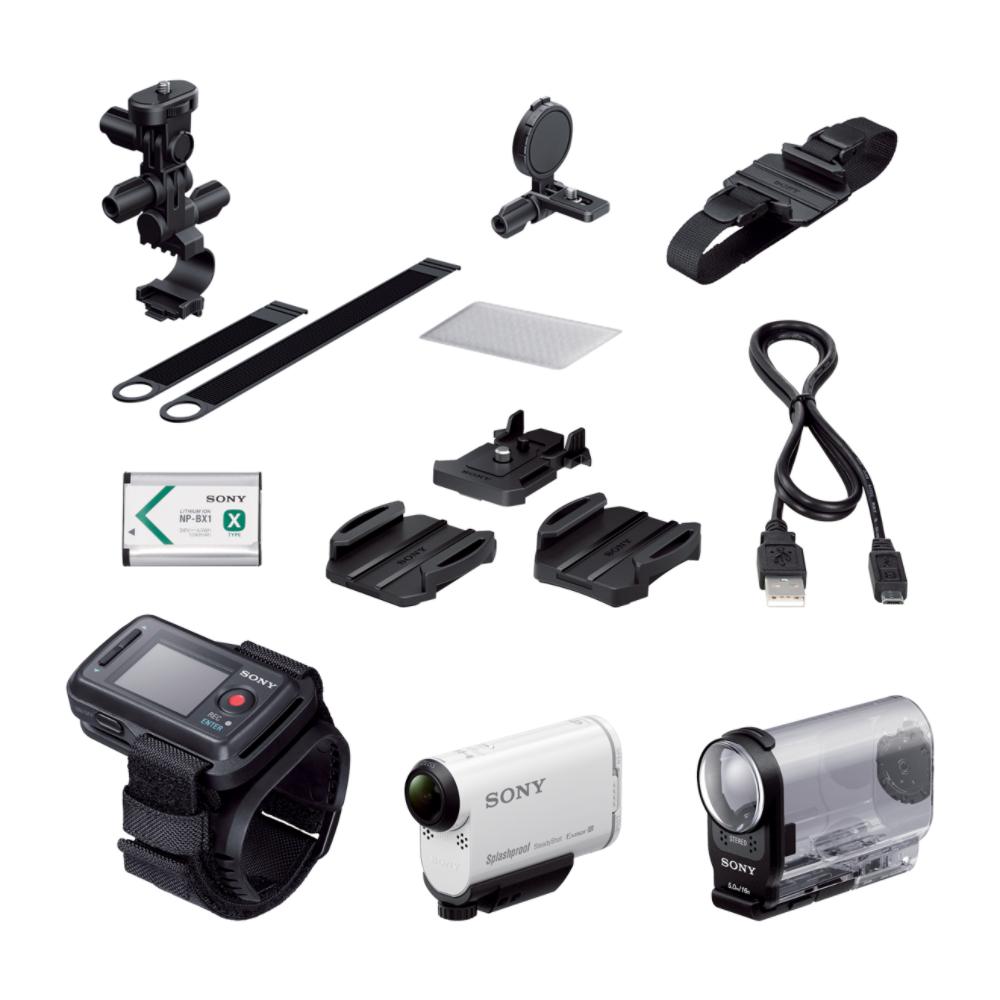 Sony AS200V Action Cam met Wi-Fi?? en GPS + fietsbevestigingsset