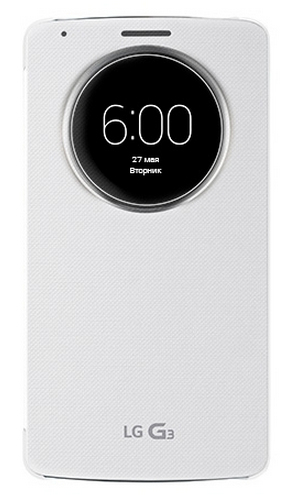LG G3 QuickCircle Cover White
