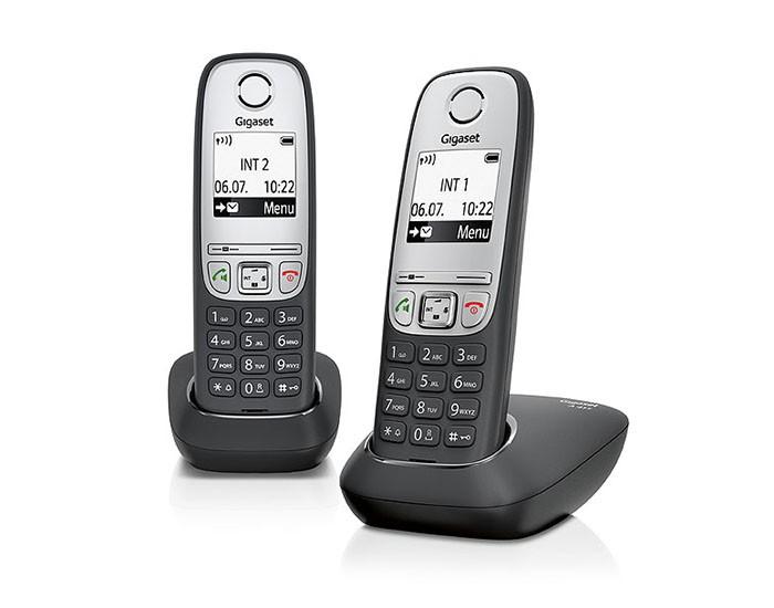Telefoon (Dect) Gigaset AS405 DUO zwartIT en Telecom 4250366846286