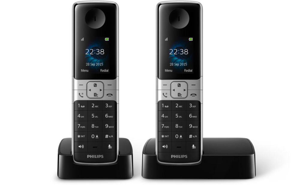 Telefoon (Dect) Philips D6302B-22 zwartIT en Telecom 4895185612485