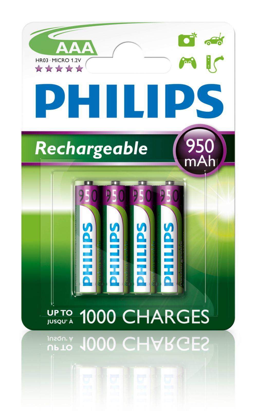 Image of AAA NiMH oplaadbare batterijen