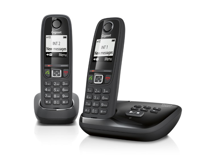 Telefoon (Dect) Gigaset AS405A DUO zwartIT en Telecom 4250366846255