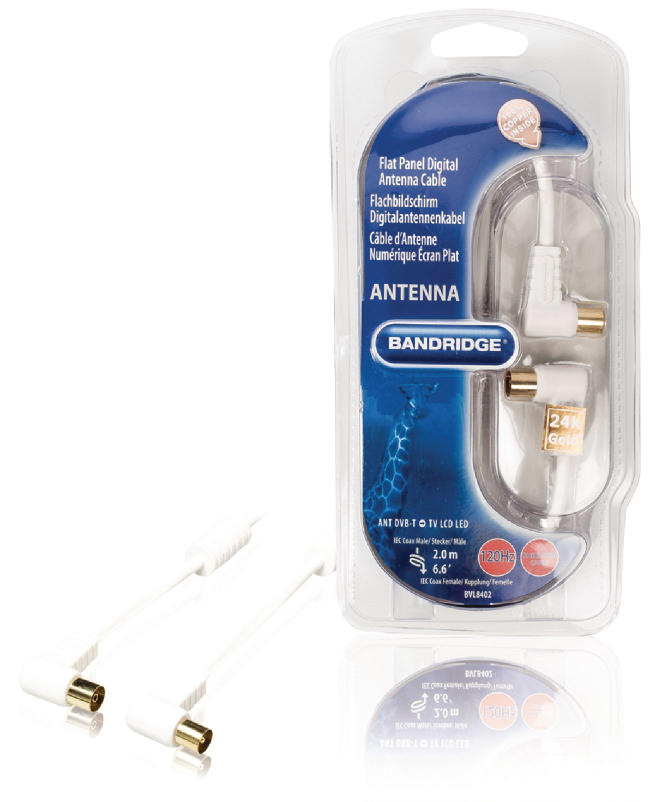 Bandridge BVL8402 digitale antennekabel voor flatscreens