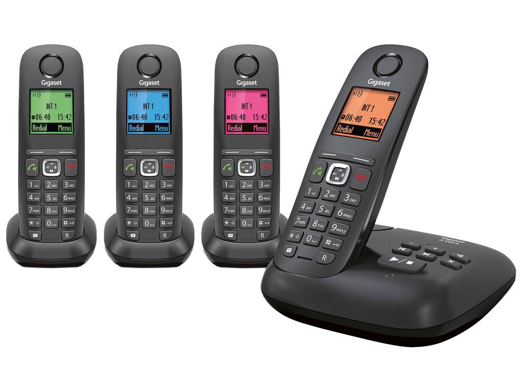 Telefoon (Dect) Gigaset A540A QUATTRO zwartIT en Telecom 5412882678812