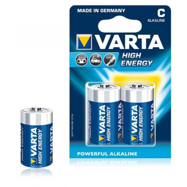 Image of 1x2 Varta High Energy Baby C LR 14