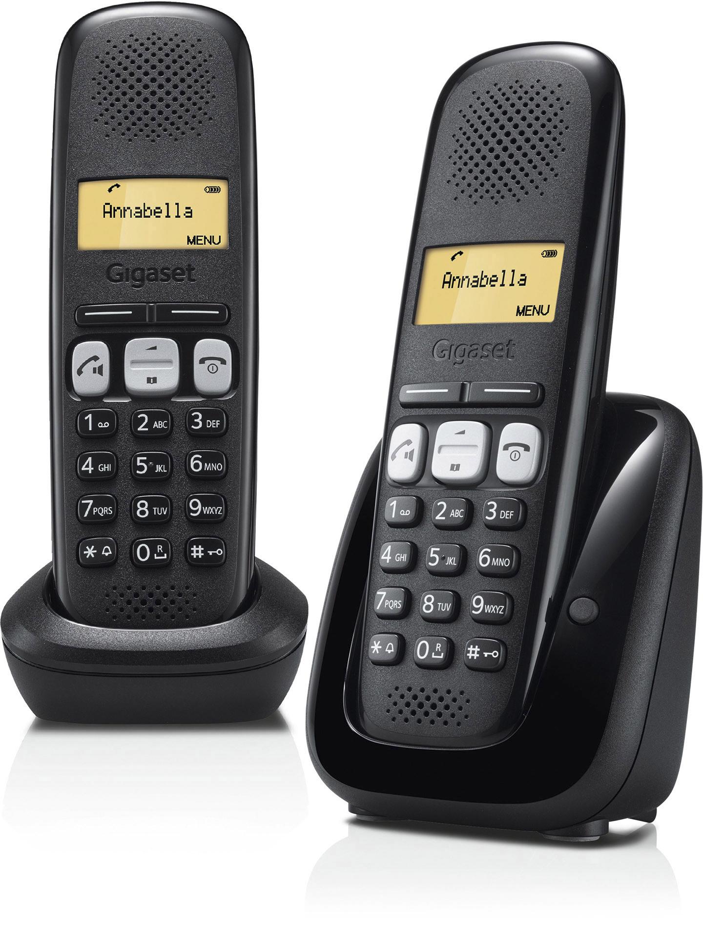 Telefoon (Dect) Gigaset A250 DUO zwartIT en Telecom 4250366846903