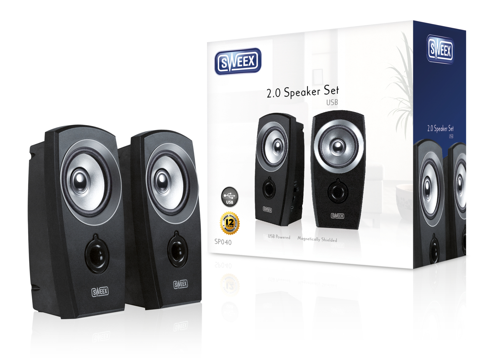 Image of 2.0 Speaker Set USB - Sweex