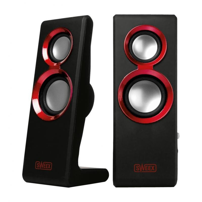 Image of 2.0 Speaker Set Purephonic 20 Watt Red USB - Sweex