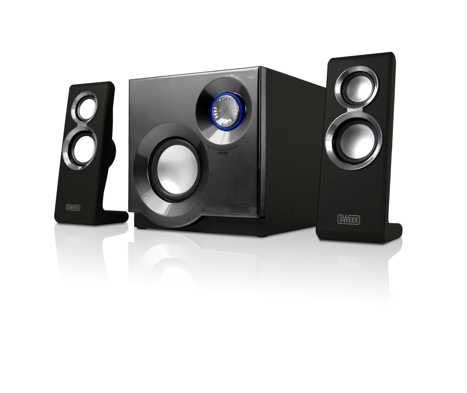 Image of 2.1 Speaker System Purephonic 60 Watt Silver - Sweex