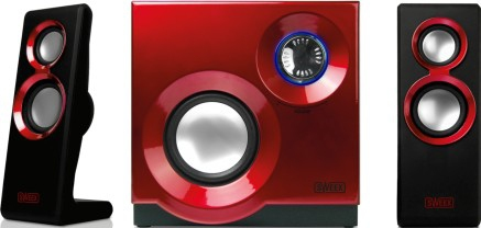 Image of 2.1 Speaker System Purephonic 60 Watt Red - Sweex
