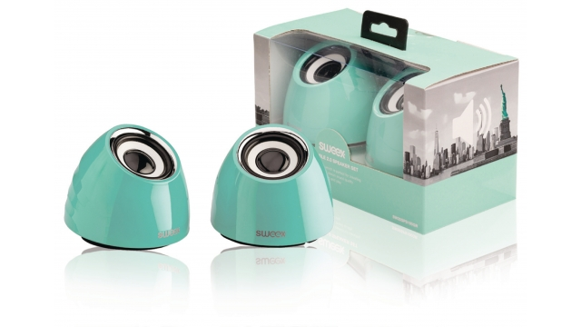 Image of 2.0 speakerset USB voeding 2x 3 W draagbaar groen