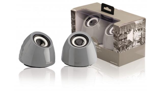 Image of 2.0 speakerset USB voeding 2x 3 W draagbaar grijs