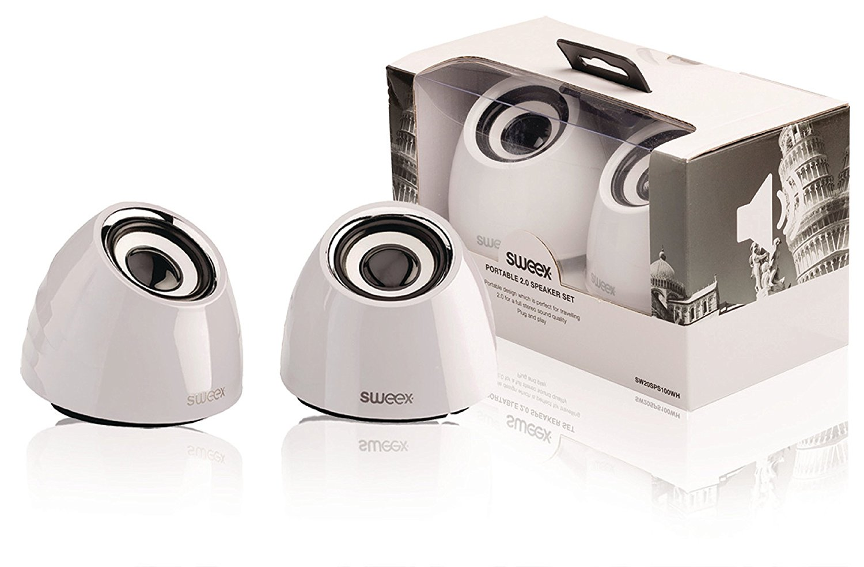 Image of 2.0 speakerset USB voeding 2x 3 W draagbaar wit