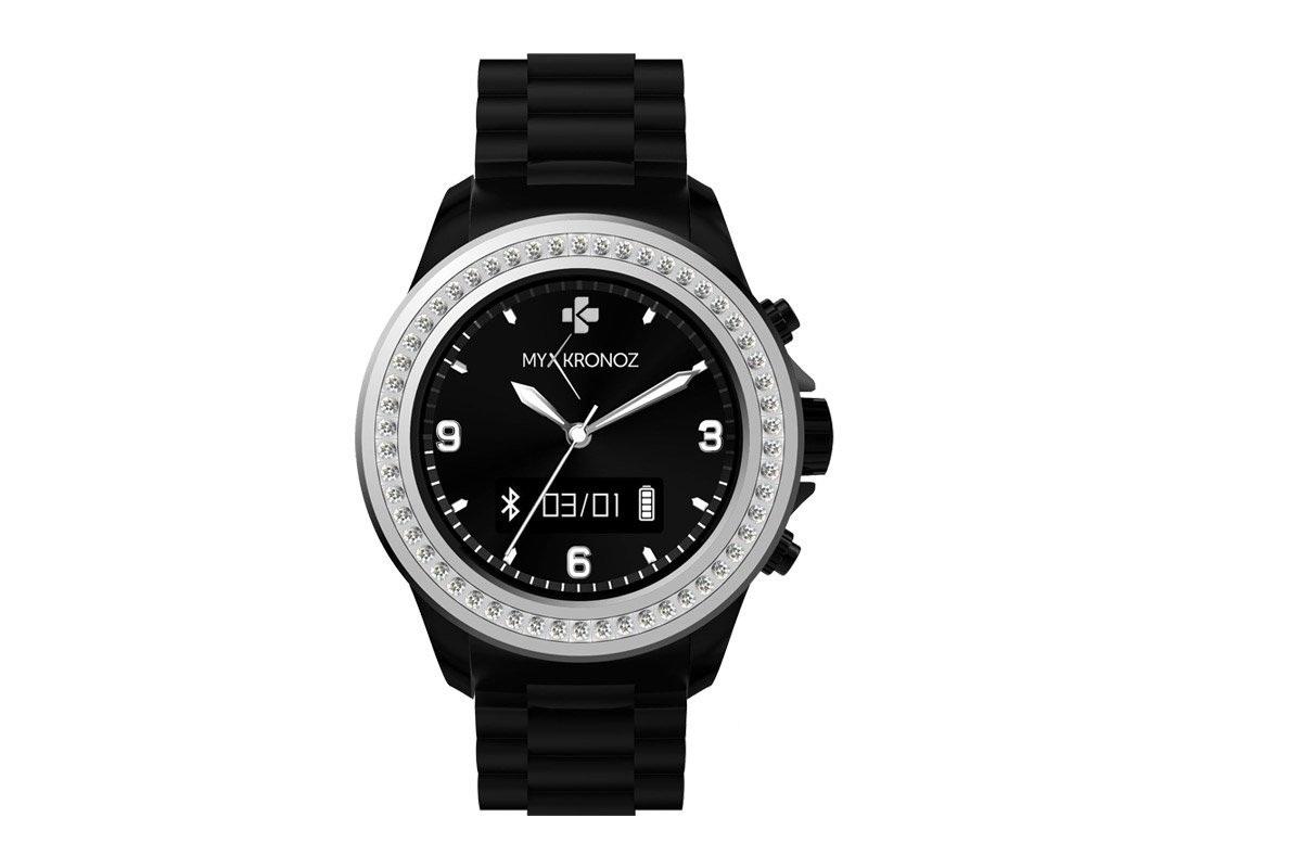 MyKronoz Smartwatch ZeClock - Swarovski- zwart