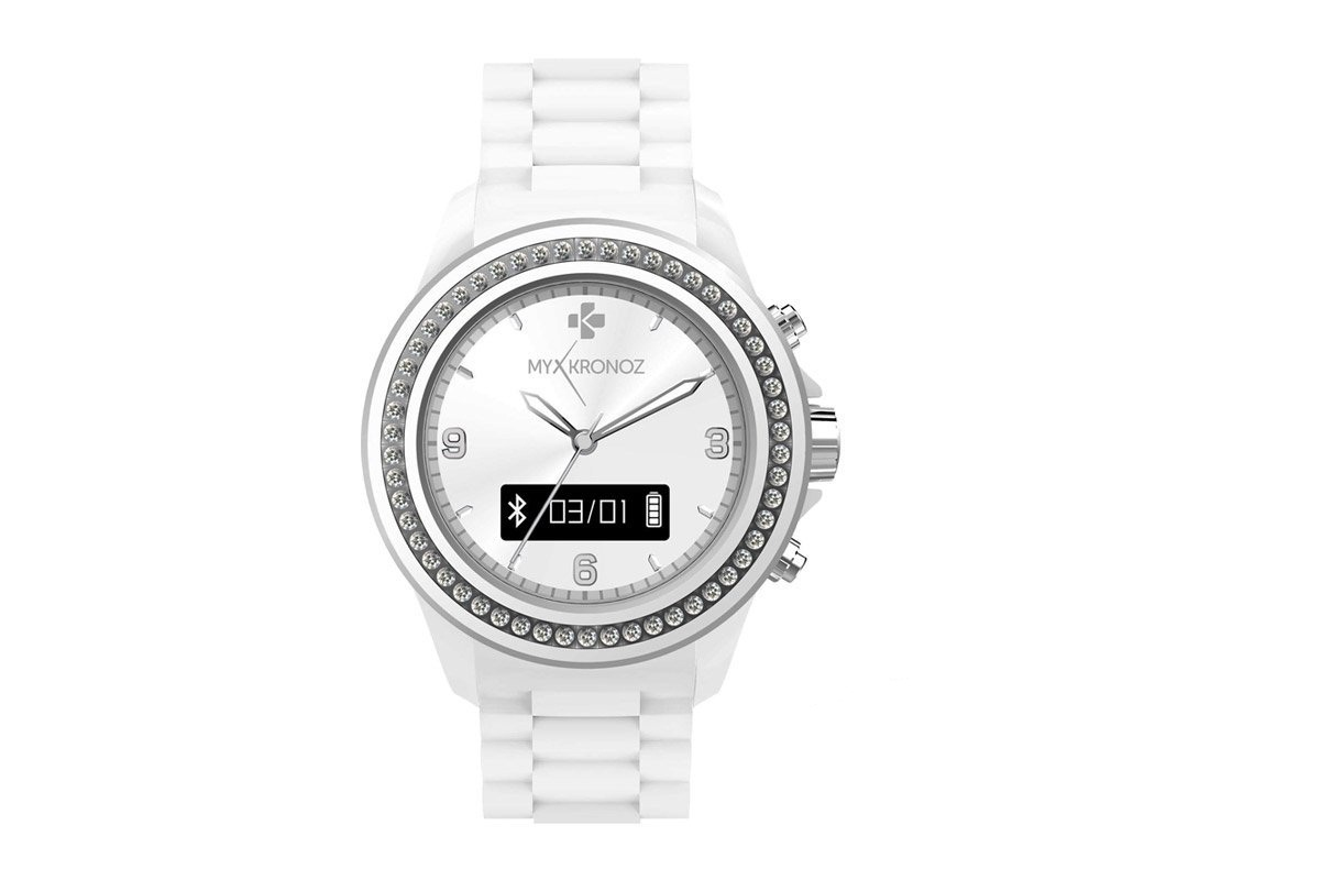 MyKronoz Smartwatch ZeClock - Swarovski- wit