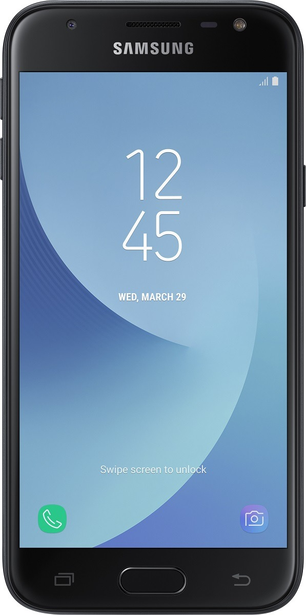 Foto Samsung Galaxy J3 2017 (Lebara Prepaid) zwart